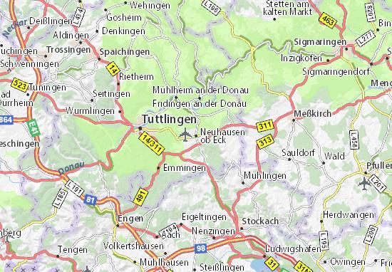 Carte-Plan Neuhausen ob Eck