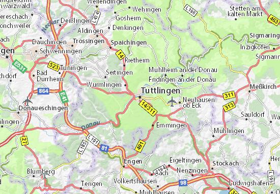 tuttlingen karte deutschland Karte, Stadtplan Tuttlingen   ViaMichelin