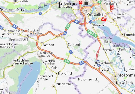 Zurndorf Map