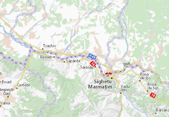 Mapa Plano Câmpulung La Tisa