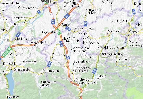 Carte-Plan Wartberg an der Krems