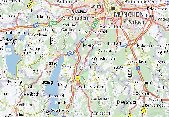 Mapas-Planos Schäftlarn