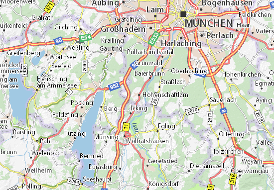 Karte Stadtplan Schäftlarn