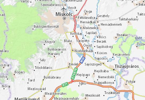 Nyékládháza Map