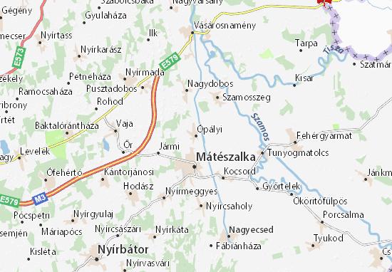 Ópályi Map