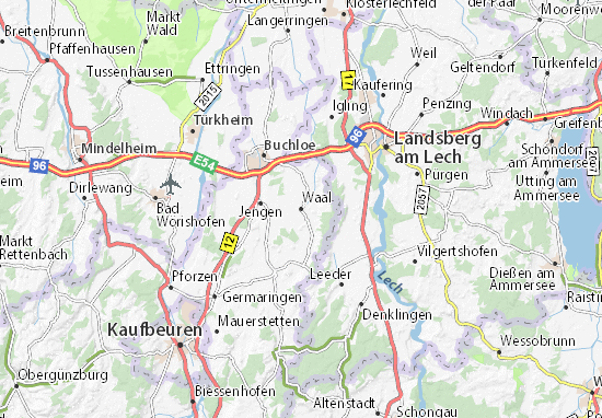 Karte Stadtplan Waal