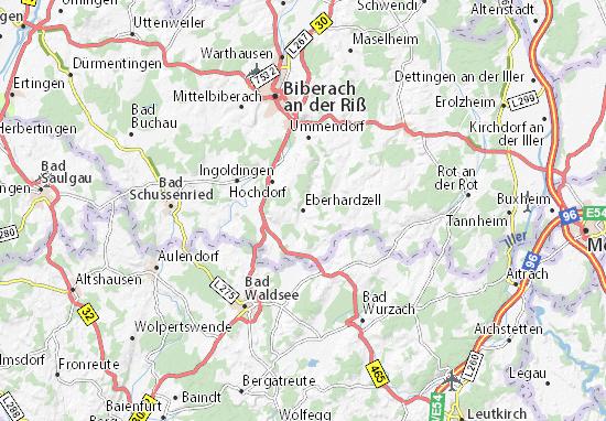 Eberhardzell Map