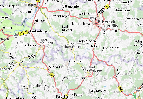 Bad Schussenried Map