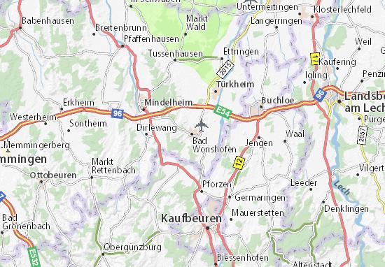 Karte Stadtplan Bad Wörishofen