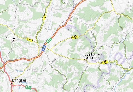 Kaart Plattegrond Parnoy-en-Bassigny