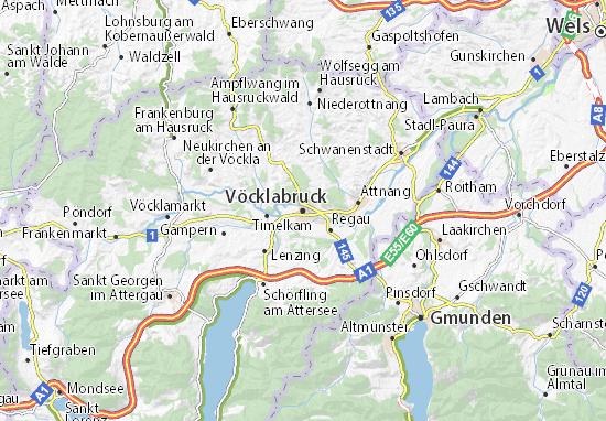 Karte Stadtplan Vöcklabruck