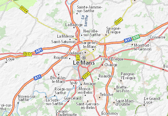 Le mans map detailed maps for the city of le mans for Design piscine le mans
