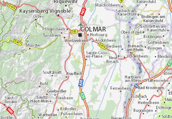 Mapas-Planos Sainte-Croix-en-Plaine