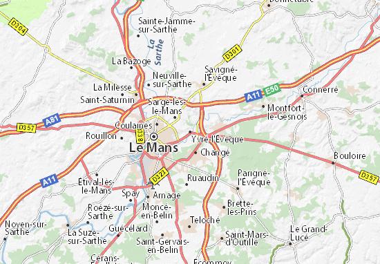 Mappe-Piantine Yvré-l'Évêque