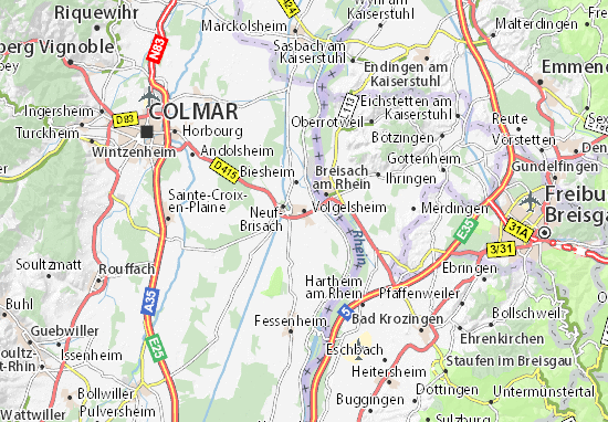 Karte Stadtplan Volgelsheim