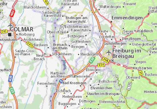 Karte Stadtplan Merdingen