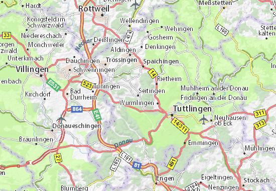 Karte Stadtplan Seitingen