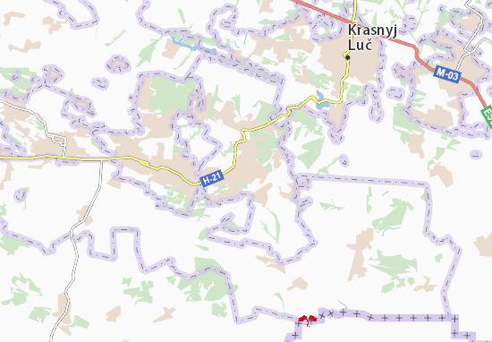 Snizhne Map