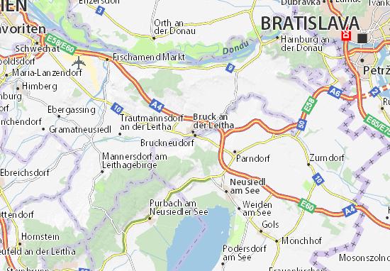 Carte-Plan Bruckneudorf