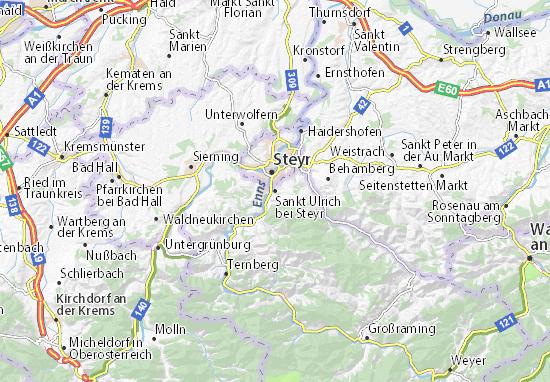 Kaart Plattegrond Sankt Ulrich bei Steyr