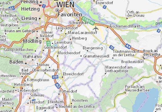 Karte Stadtplan Gramatneusiedl