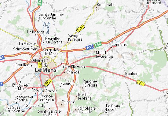 Carte-Plan Saint-Mars-la-Brière