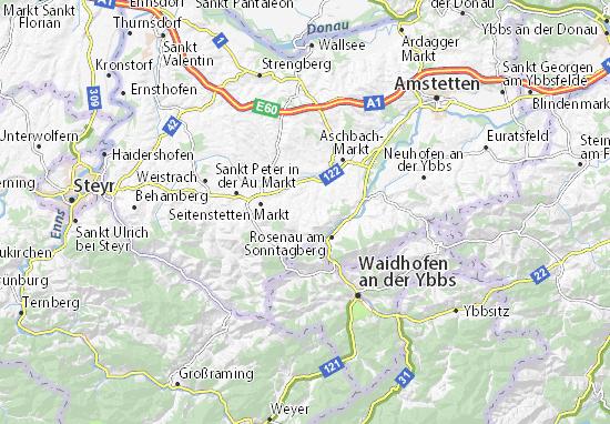 Karte Stadtplan Biberbach
