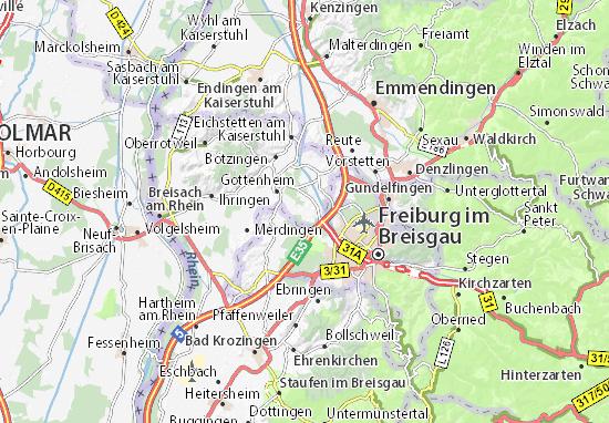 Karte Stadtplan Umkirch