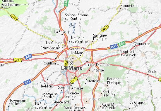 Karte Stadtplan Sargé-lès-le-Mans