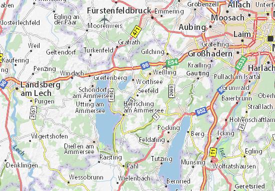 Karte Stadtplan Seefeld