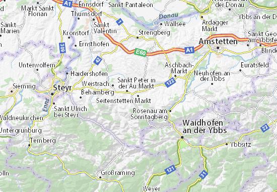 Kaart Plattegrond Seitenstetten Markt