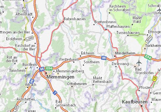 Erkheim Map