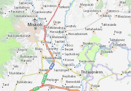 Bőcs Map