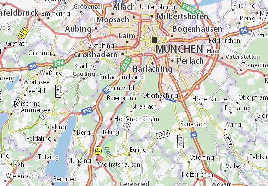 Karte Stadtplan Grünwald