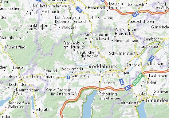 Kaart Plattegrond Neukirchen an der Vöckla