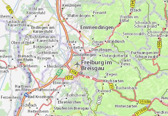 Karte Stadtplan Gundelfingen