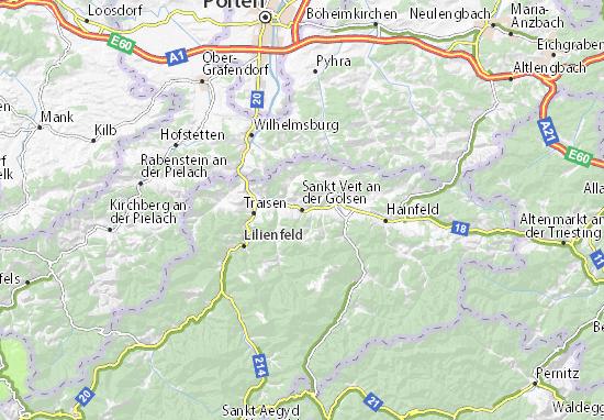 Kaart Plattegrond Sankt Veit an der Gölsen