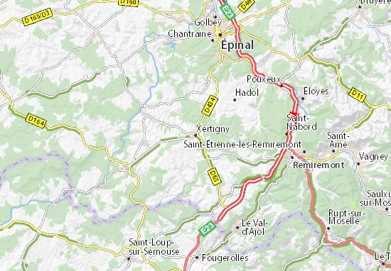 Mapas-Planos Xertigny