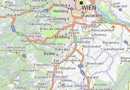 Karte Stadtplan Gumpoldskirchen