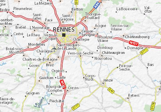 Carte-Plan Vern-sur-Seiche