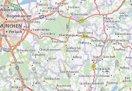 Karte Stadtplan Grafing bei München