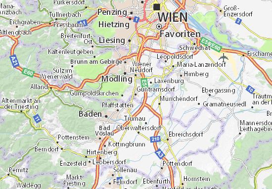 Karte Stadtplan Guntramsdorf