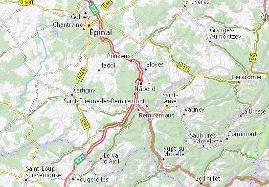 Kaart Plattegrond Saint-Nabord