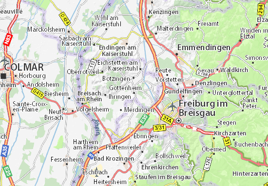 Karte Stadtplan Gottenheim