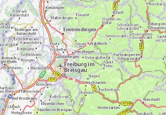 Kaart Plattegrond Unterglottertal