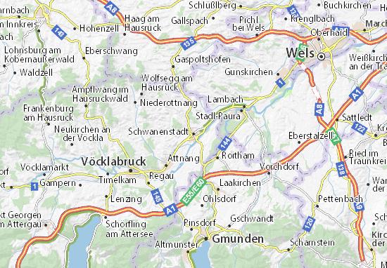 Karte Stadtplan Schwanenstadt