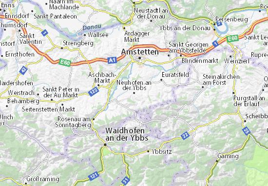 Kaart Plattegrond Neuhofen an der Ybbs