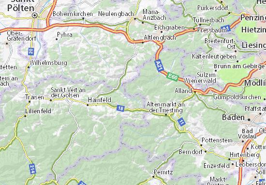 Bundesl303244nder Karte Ohne Namen.Karte Wienerwald