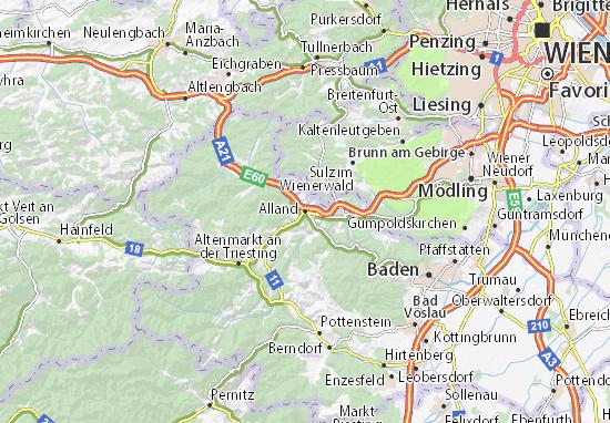 Karte Stadtplan Alland