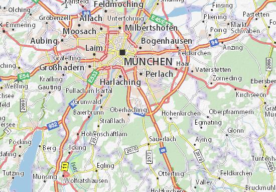 Karte Stadtplan Unterhaching